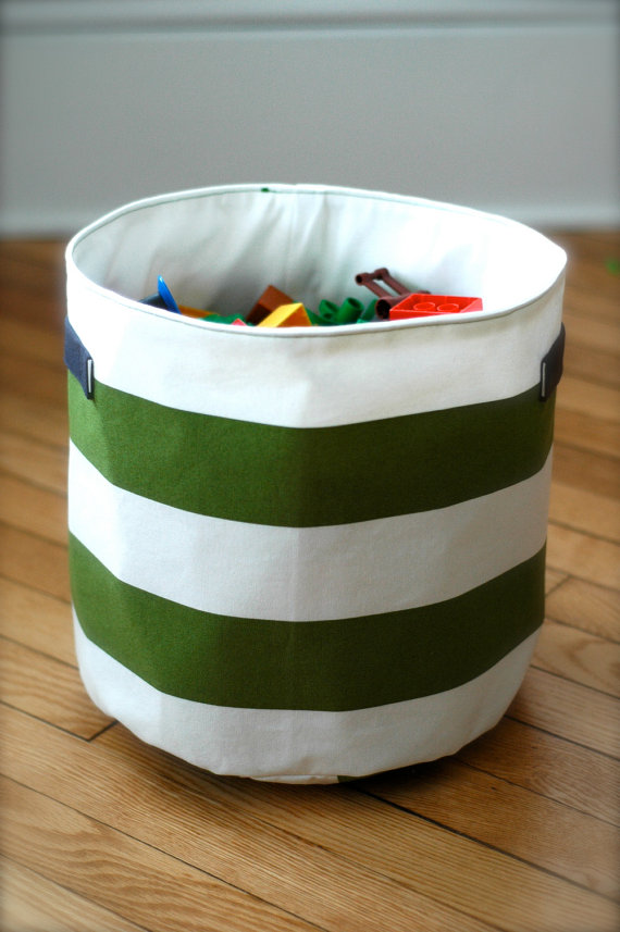 Green striped bucket