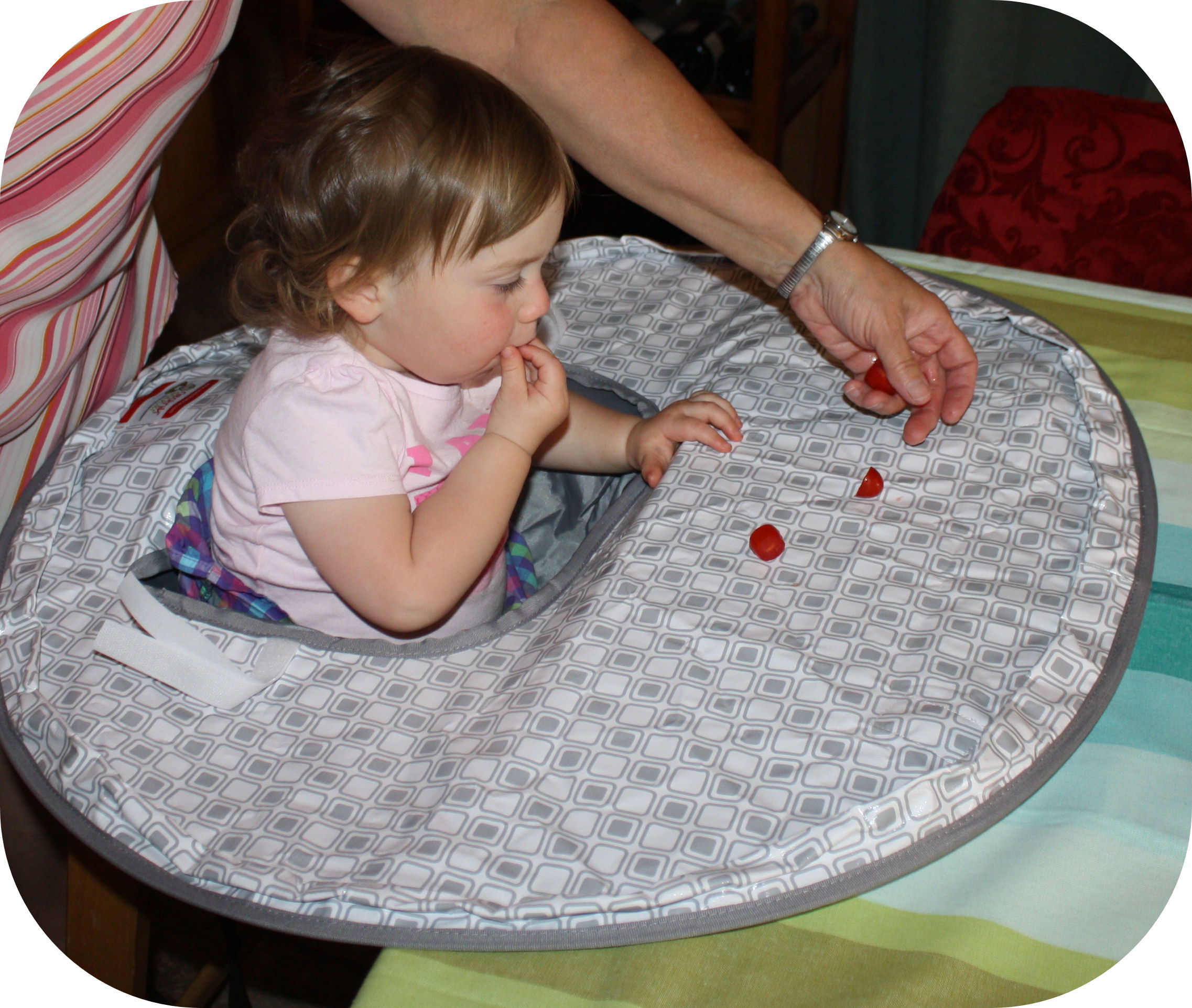 neatnik saucer high chair cover for the tidy baby gourmet