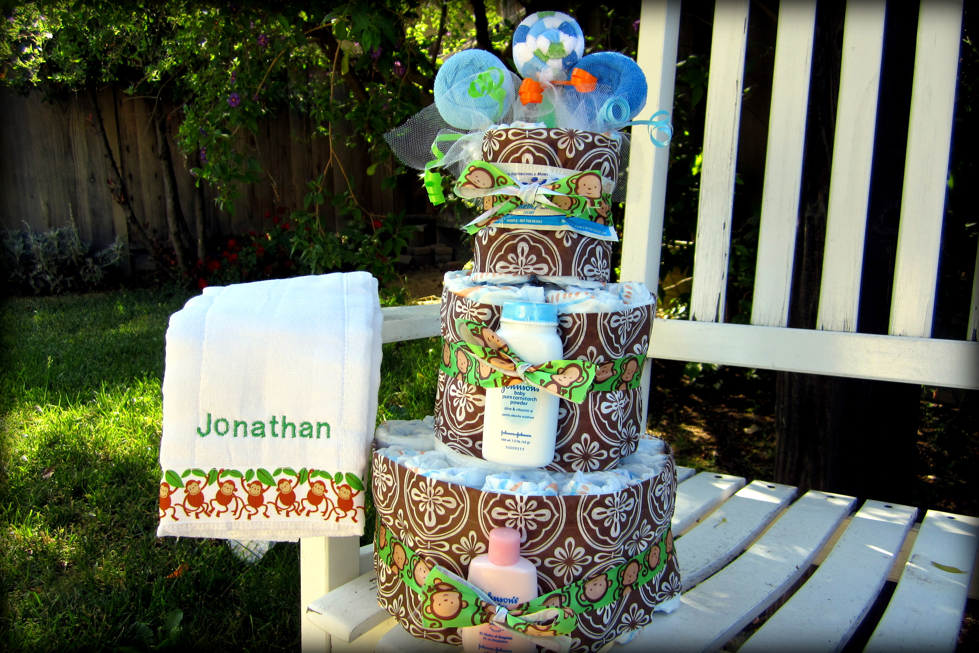 Diaper Cake with Tissue Wrap