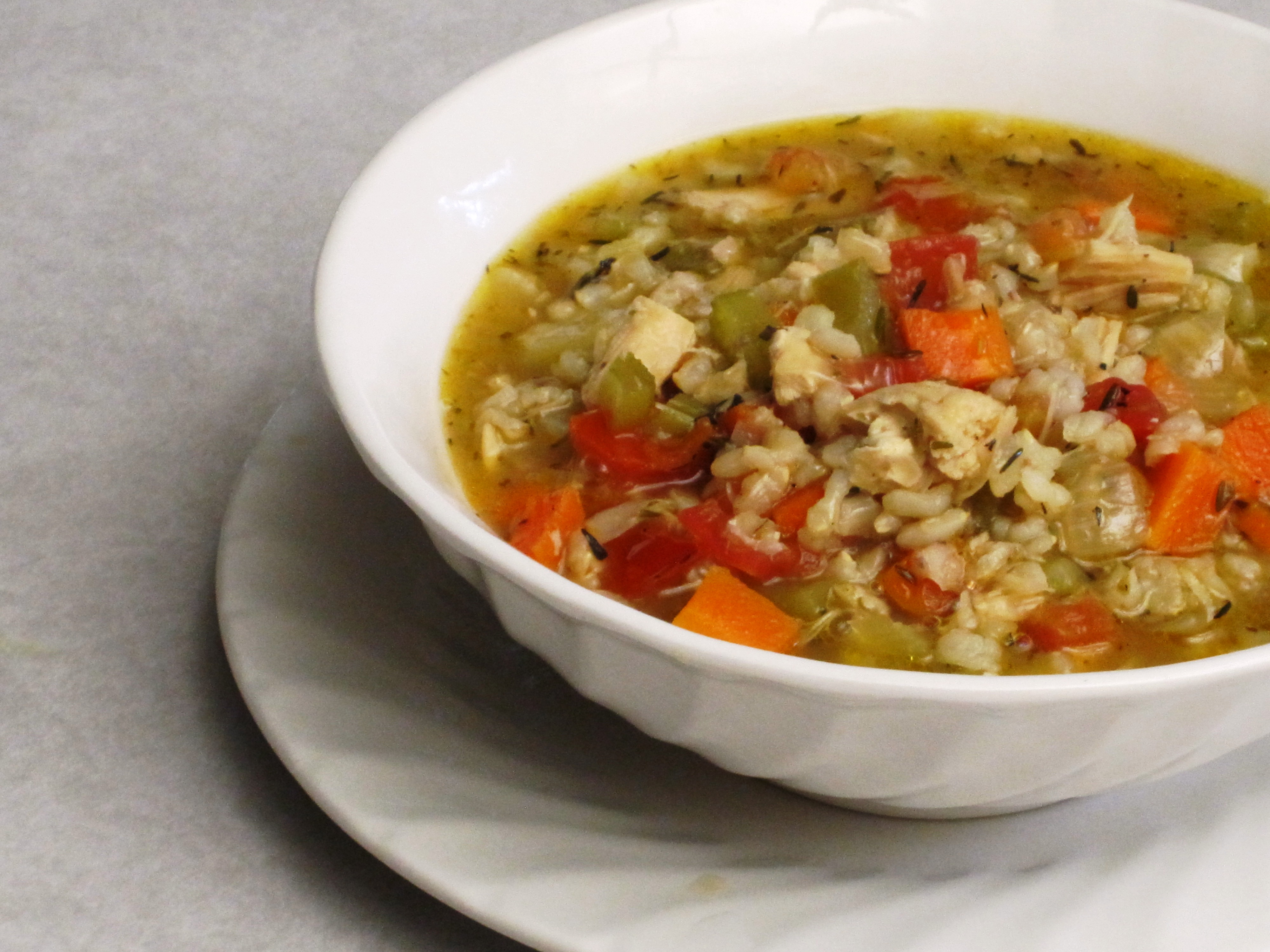 a simple {real food} recipe :: chicken and rice soup