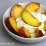 a simple {real food} recipe :: peaches and cream {dairy free option}