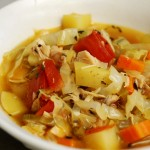 a simple {real food} recipe :: end of summer cabbage {soup}