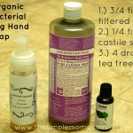 a simple DIY :: organic antibacterial foaming hand soap