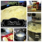 a simple, cheap potluck or party recipe :: garlic whipped mashed potatoes