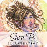 fairy, mermaid and angel art prints from sara b. illustration :: shared giveaway!