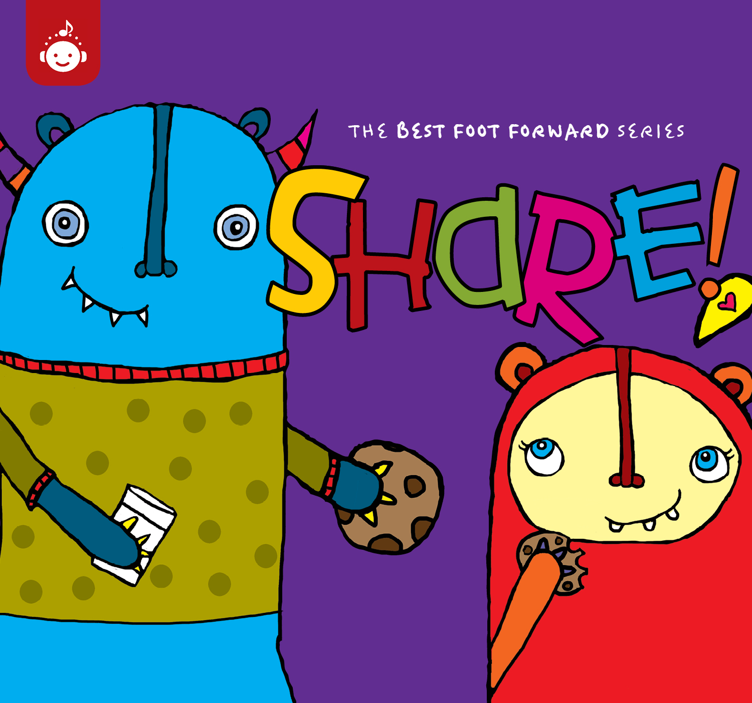 Recess Music Best Foot Forward SHARE Album CD Cover at The Simple Moms blog