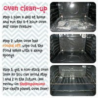 how to clean an oven quickly