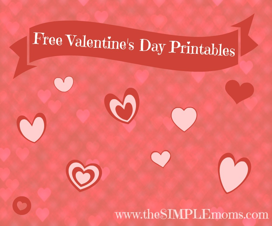 Free Printable Valentines Day Cards Banner The Simple Moms