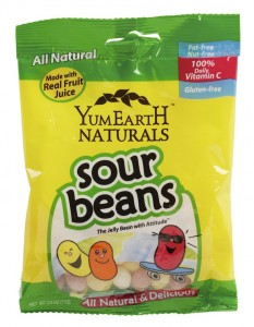 YumEarth Sour Beans personal bag