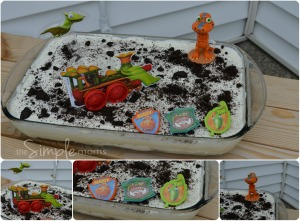 Dinosaur Train ice cream cake featured image
