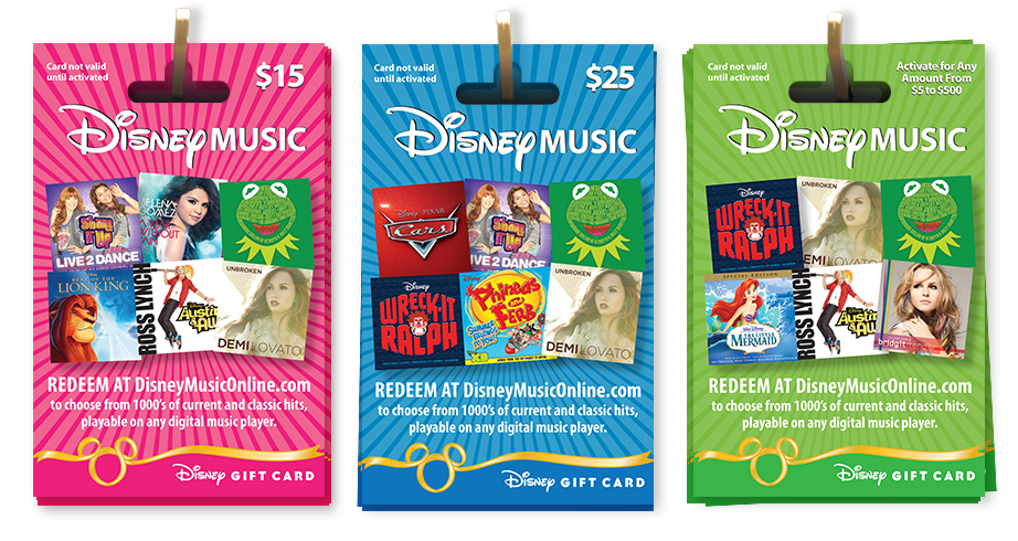 Disney Music Gift Cards set