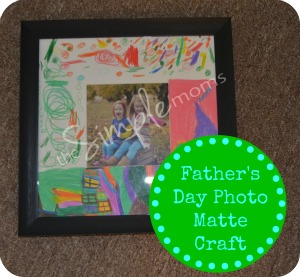 Father's Day Photo Matte Craft featured