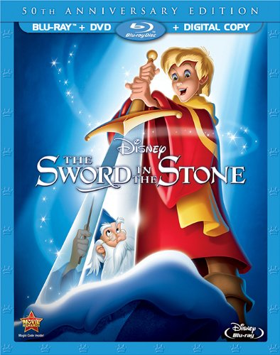disney the sword in the stone 50th anniversary edition cover art