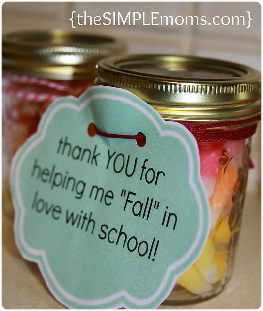 A simple craft halloween fall teacher gift or thank for Thank you crafts for teachers