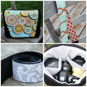 Lily Ryan camera bag and strap collage
