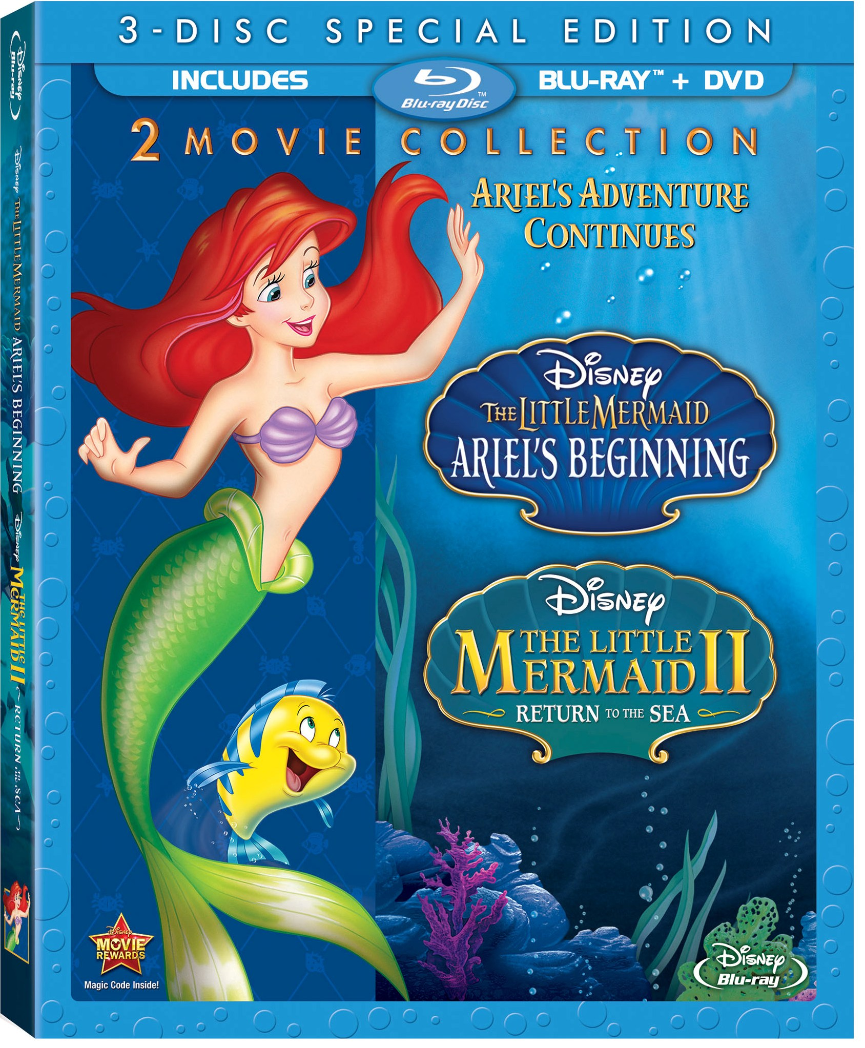 The Little Mermaid II & Ariel's Beginning Cover Art