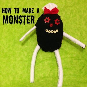 simple sewing - how to make a monster feature img