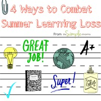 4 Ways to Combat Summer Learning Loss from theSIMPLEmoms featured image
