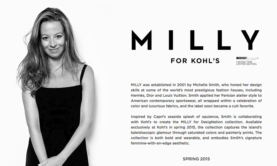 Milly Collection for Kohl's 2015