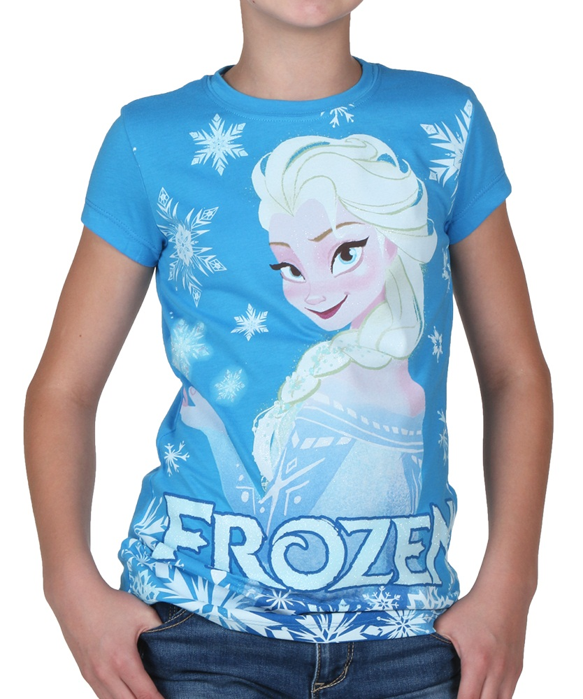 Product Description her and glitter accents, this shirt is a must-have for your Frozen fan.
