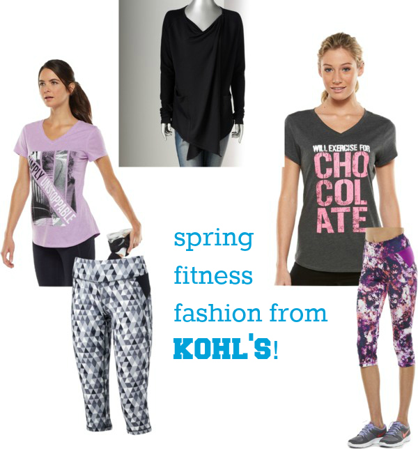 spring fitness fashion from kohls