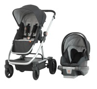 GB Evoq Travel System_Sterling_3-4 view_with Asana35 AP Infant Car Seat_preferred press photo_200