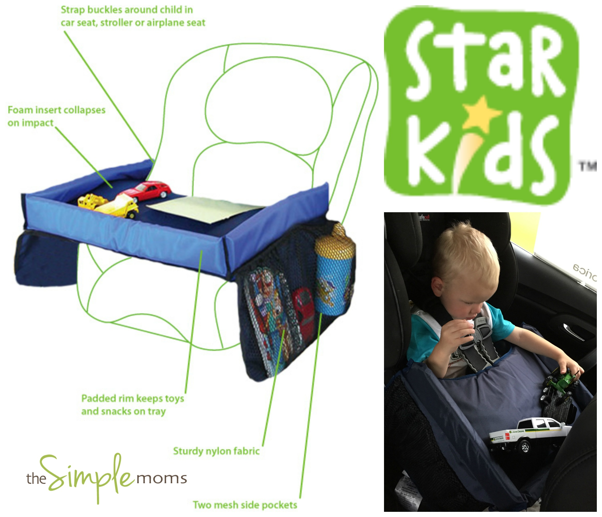 Snack and Play Travel Tray Star Kids