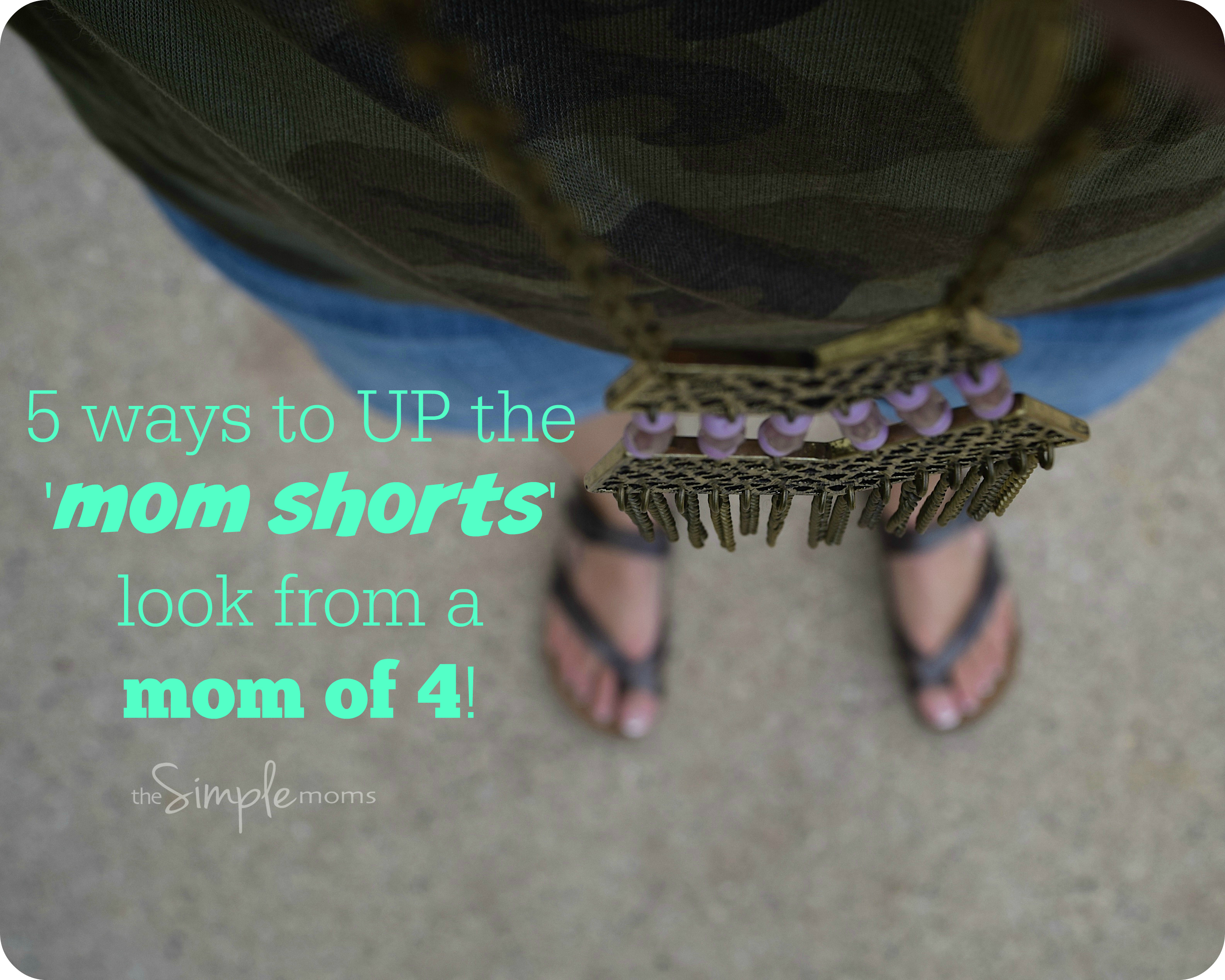 5 ways to up the mom shorts look