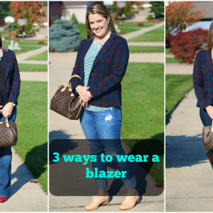 3 ways to wear a plaid blazer
