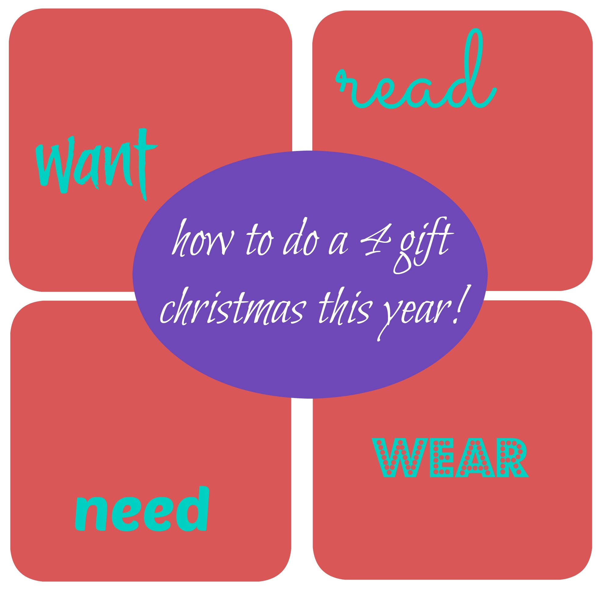 how to do a 4 gift christmas this year