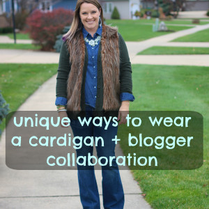 unique ways to wear a cardigan