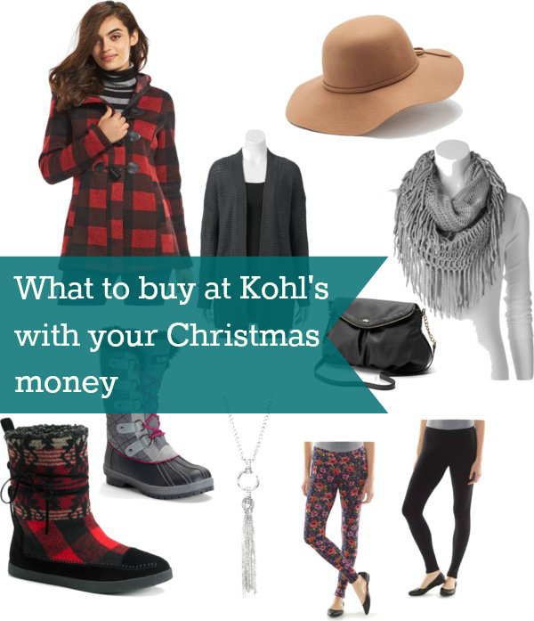 what to buy at Kohl's with your Christmas money