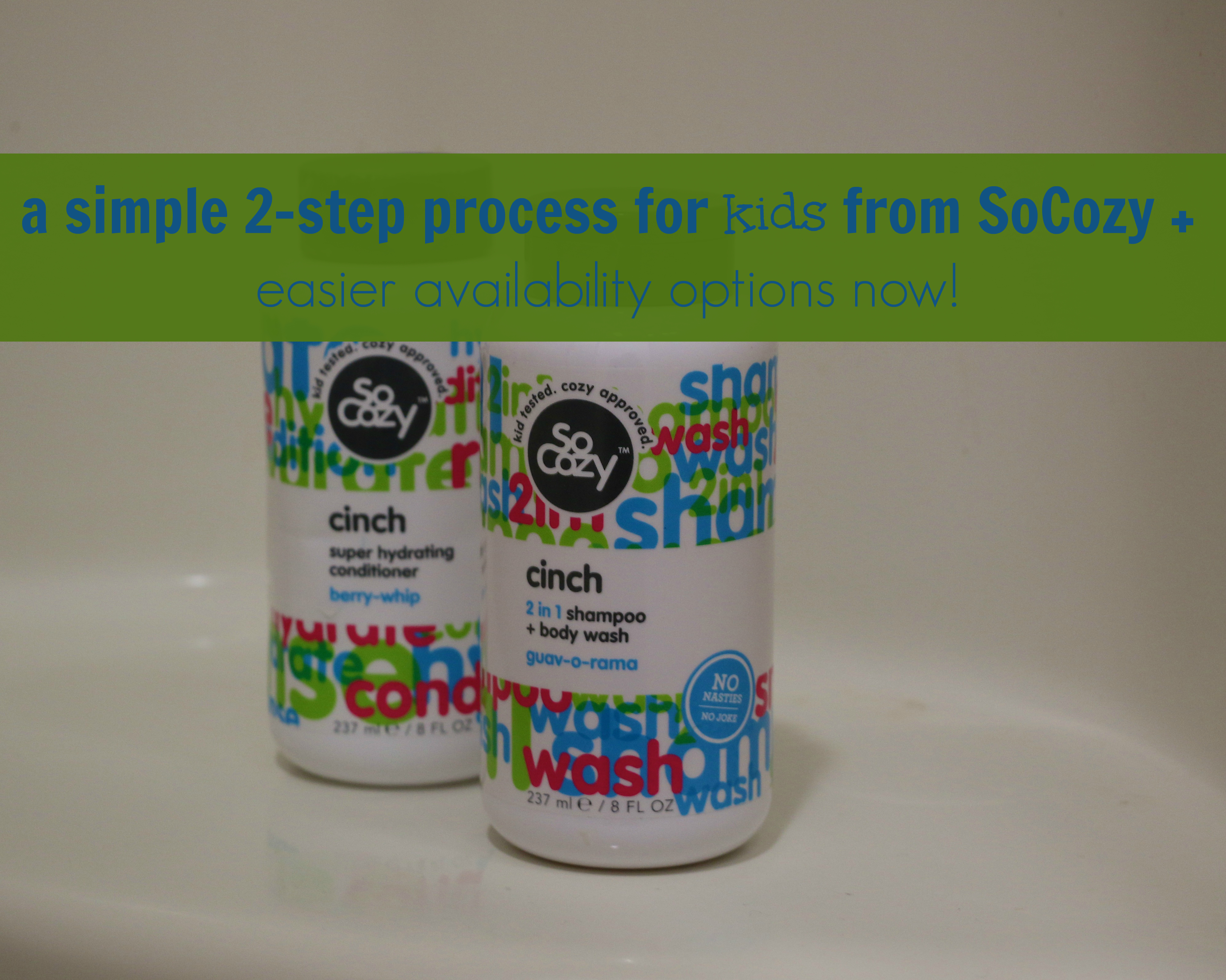 a simple 2-step process for kids from socozy