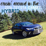 crusin' in the 2016 Toyota Camry Hybrid #DriveToyota