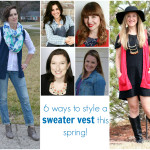a style collaboration :: how to wear a sweater vest this spring