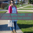 a casual spring outfit and why to choose polarized sunglasses