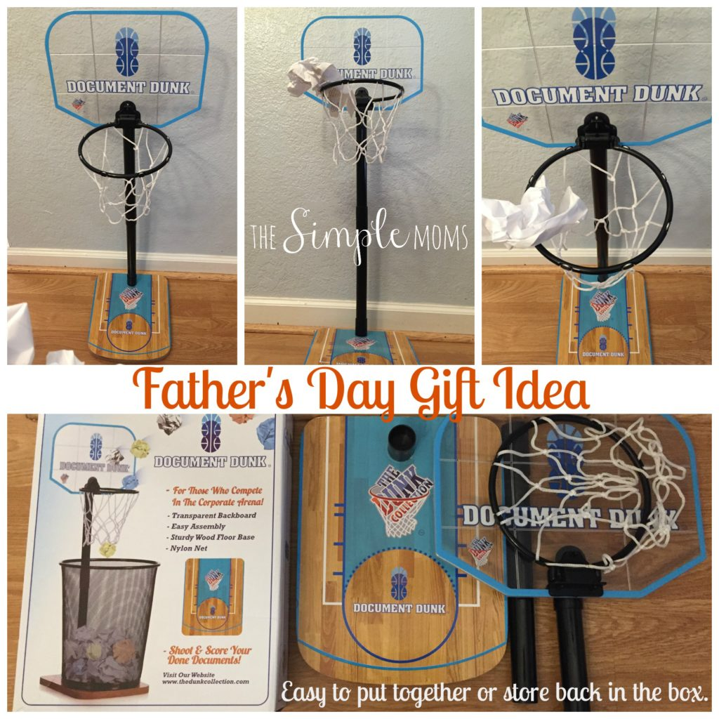 Document dunk father s day gift idea giveaway the simple moms - Basketball waste paper basket ...