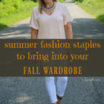 two summer fashion looks from candice lou that will easily transition to cool summer nights and fall date nights