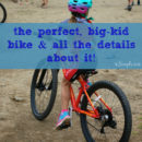 the perfect, big-kid bike & all the details about it