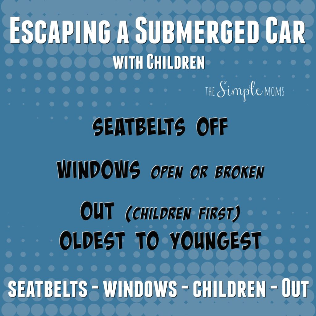 escaping a submerged car with children