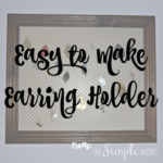 easy to make earring holder :: DIY