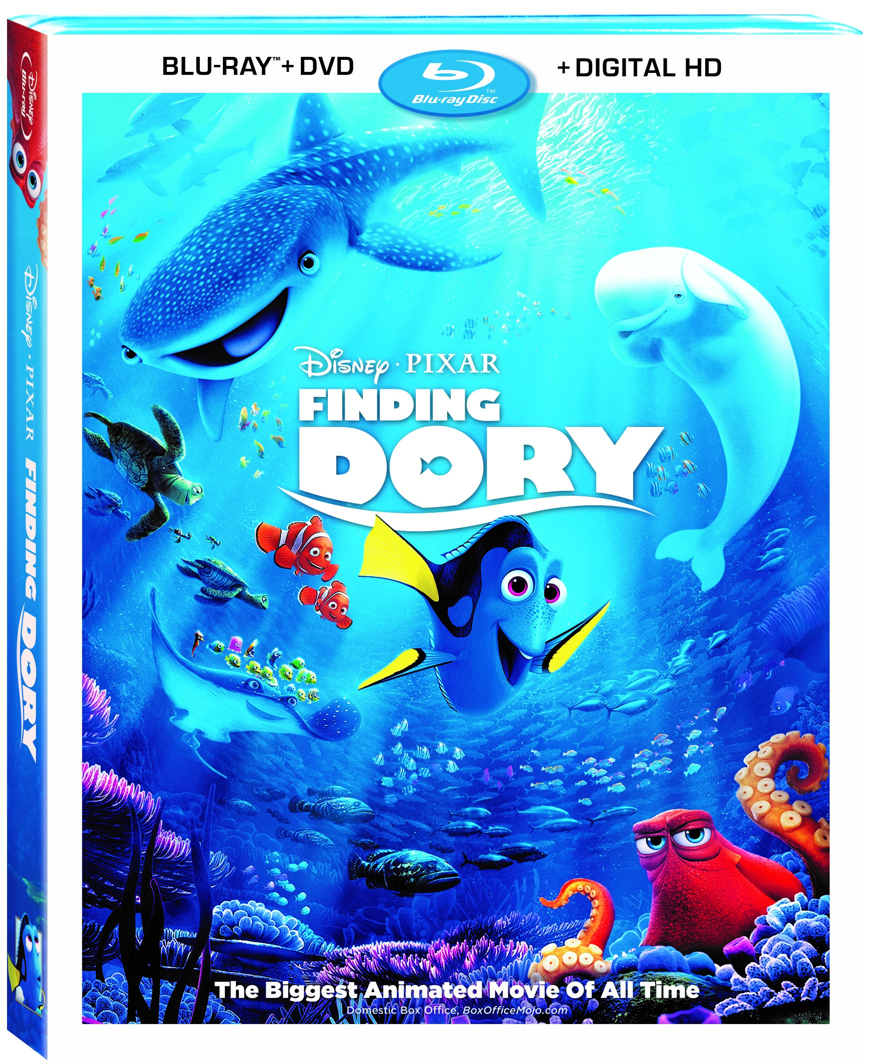 Finding Dory Bluray Combo, Available now on DVD!