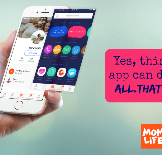 featured image for mom.life app screen