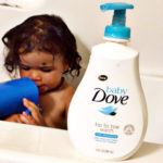 bath time fun with baby dove