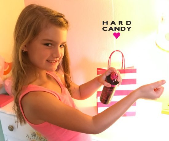 hard candy pink and black body mist