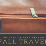 the five or less method :: simple packing for fall travel