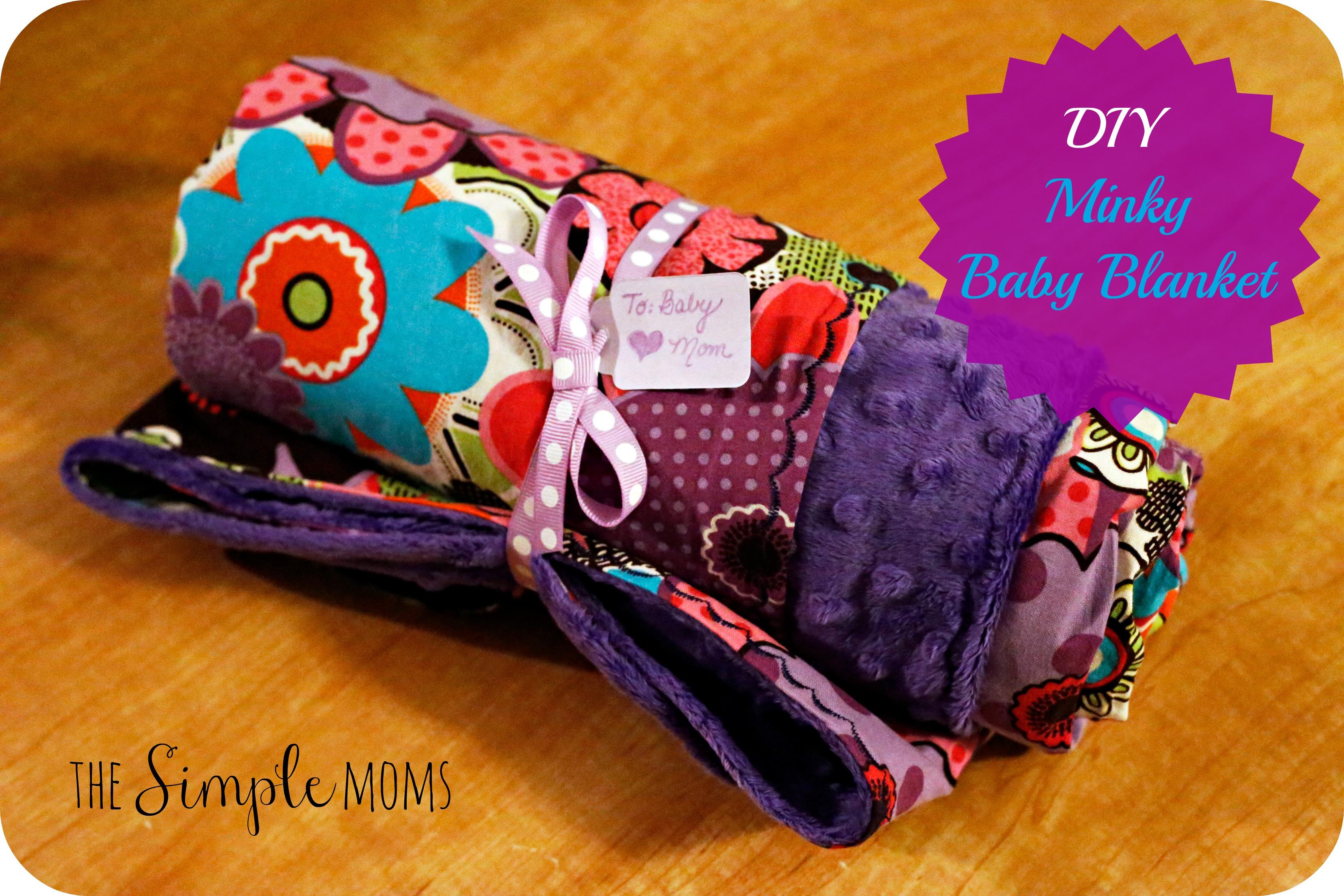 Minky Baby Blanket Diy Tutorial The Simple Moms